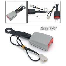 "1X Gray 7/8"" Car Safety Seat Belt Buckle Socket Plug Connector W/Warning Cable"