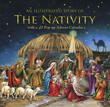 Caspari Christmas Advent Calendar and Story Book, Nativity 29 x 32 cm
