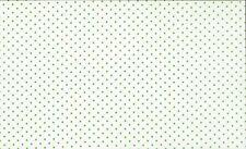 Green on White  Polka Dot 3mm  Spot 100% Cotton Fabric by Makower  FQ