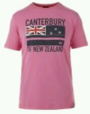 CANTERBURY RUGBY COTTON  FLAG TEE PINK SMALL BNWT RACE FOR LIFE