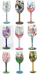 Enesco Lolita Wine Glass ~ Hand Painted ~ Original Gift Box ~ Many Styles