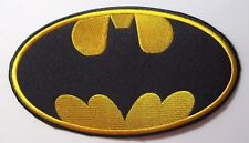"BATMAN LOGO EMBROIDERED JACKET PATCH 8"" LONG X 4 1/2"" TALL (PERFECT SIZE!)"