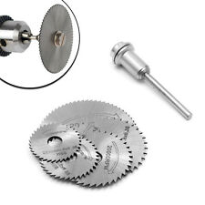 New 5Pcs Cut off Saw Blades HSS Cutting Discs + 1 Mandrel For Rotary Blade Tool