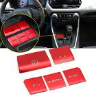 For Toyota RAV4 2019 2020 Red Gear Accessories Function Button Frame Trims 5Pcs