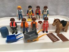 Vintage 1997 Geobra Playmobil Figures Rescue Uvex Diver Horse Wagon Lot