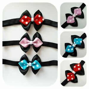 Baby Girl Headband Hair Band Bow Disney Minnie Mouse Inspired Kids Party Uk