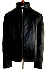 Giacca in Pelle Per Uomo Vintage Antico Marrone Moto Panther Cintura Benjamin Pit