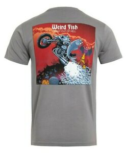 Weirdfish Gents Sprat Out Of Hell Graphic T-Shirt Frost Grey