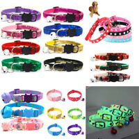 Pet Cat Collar With Bell Shinny Adjustable Sequin Collar Neck Strap Pet Supply G