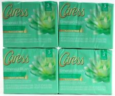 4 Caress Emerald Rush Lush Gardenia & White Tea Bar Soaps 12 Bars Total