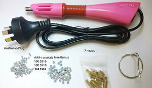 Nu01 Hot Fix Hotfix Rhinestone Applicator Bonus 700 ss10 value $28 JCE11
