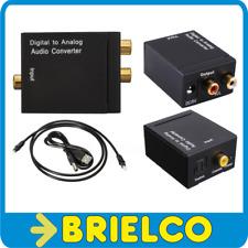 CONVERTIDOR AUDIO DIGITAL A ANALOGICO COAXIAL Y OPTICO TOSLINK A 2XRCA 5V BD9325