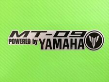 MT09 Powered By Decals stickers for Road Bike or fairing PAIR #100