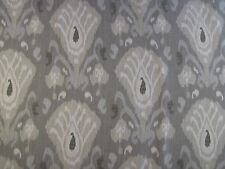 "ZOFFANY CURTAIN FABRIC DESIGN ""Annapurna"" 4.3 METRES TAUPE & CHOCOLATE (430 CM)"