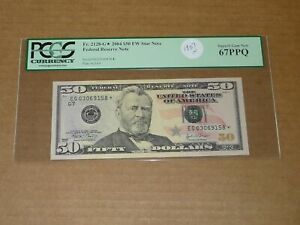 2004 $50 EG SERIES CURRENCY STAR NOTE PCGS GEM NEW 67 PPQ