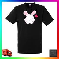 Bunny Love TShirt T-Shirt Tee Heart Rabbit Pet Cute Fluffy Cartoon Funny Cool