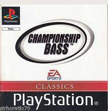 CHAMPIONSHIP BASS PlayStation Game PS1 PS2 PS3