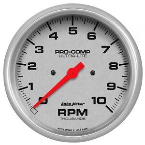 "Auto Meter For 5"" In-Dash Tachometer 0-10,000 RPM Ultra-Lite 4498"