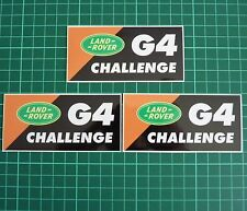 Land Rover G4 Challenge Decal Sticker Kit for Discovery Range Rover Freelander