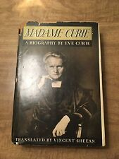 Madame Curie By Eve Curie (1937, HCDJ)