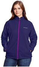 COLUMBIA Kruser Ridge Softshell Full Zip Jacket Women Plus 1X Nightshade / Plum