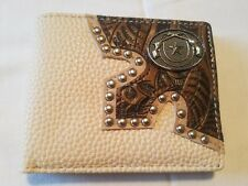 Western bifold wallet men GUNS