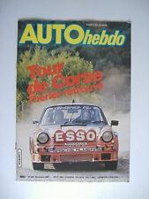 AUTO HEBDO n°239 TOUR DE CORSE-ROC F2-MINI METRO