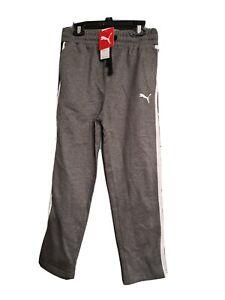 Puma Athletic Joggers  Gym Sports Sweat Pants Boys Gray XL (18-20 ) New