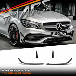 Bumper Aero Lip Kits & side Blade Canards for Mercedes-Benz C117 X117 CLA45 AMG