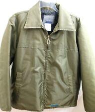 NWOT Diesel Mens Size Large Industry Army Green Flux Fur Lined Nylon Jacket