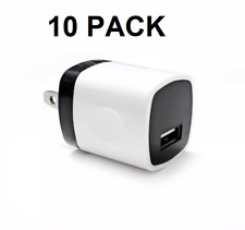 10 Pack 1A Usb Power Adapter Ac Home Wall Charger for iPhone 11 8 7 6 & Samsung