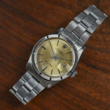 Vintage ROLEX 1501 Oyster Perpetual Auto SS Date Turn Engine Bezel Watch PATINA