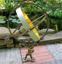"Hercules Sundial Large 27"" - Solid Brass and Iron New"