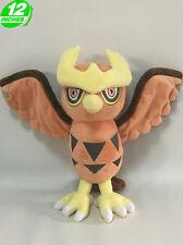 12'' Noctowl ヨルノズク Plush Pokemon Anime Stuffed Animal Doll Toy Game PNPL7384