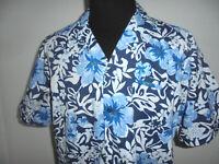 vintage 90s Hawaii Hemd hawaiihemd oldschool blau surfer shirt Gr. XL