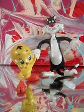"Looney Tunes Sylvester bendy Pvc Figure 5"", 1988 Wb Tweety Lot Vintage"