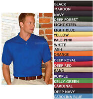 Hanes Mens Jersey Polo Stedman Blended Golf Sport Shirt Wicking S-XL 17 COLORS