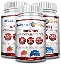 Research Verified Raspberry Ketone - Weight Loss Supplement (3 Bottles)