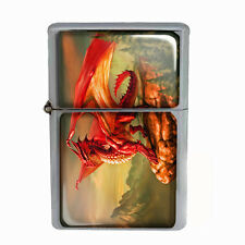 Wind Proof Dual Torch Refillable Lighter Dragon Design-003 Custom Medieval Beast