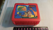 "Vintage ""The Flintstones"" Movie Red Plastic Lunchbox 1994 by Thermos"