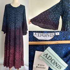 BNWT Adonis Smock Maxi Dress 70s Hippy Festival Boho Ombré Floral Summer Size S