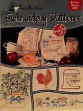 """Needlework CRAFT Book """"Aunt Martha's Embroidery Patterns"""" Kitchen Designs #400"""