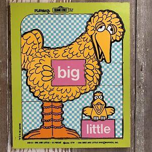 1973 Playskool Sesame Street Big Bird Big Little Bird Preschool Wooden Puzzle