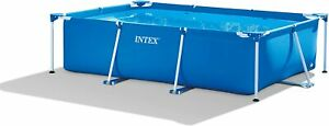 Intex 28272 Metal Frame Rectangular Pool without Filter Pump, 3834 L, Blue, 300