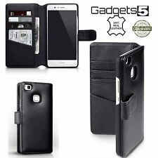 Huawei P9 Lite Real Hand crafted leather multi fonctionnelle 360 ° protection case