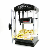 8oz Black Popcorn Maker Machine by Paramount - New 8 oz Capacity Theater Popper