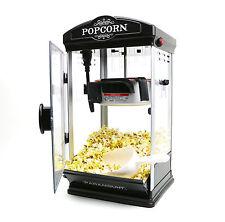 8oz Black Popcorn Maker Machine by Paramount - New 8 oz Capacity Theater Popper