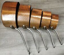 More details for  set of 5  fabrications francaise, french copper cooking pans