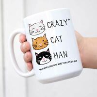 Crazy Cat Man Coffee Tea Mug Cup Cat Lover Gift Gift For Father's Day Mug