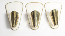 SET MID CENTURY PIERCE BRASS  LIGHTOLIER FOR PAAVO TYNELL  WALL SCONCES